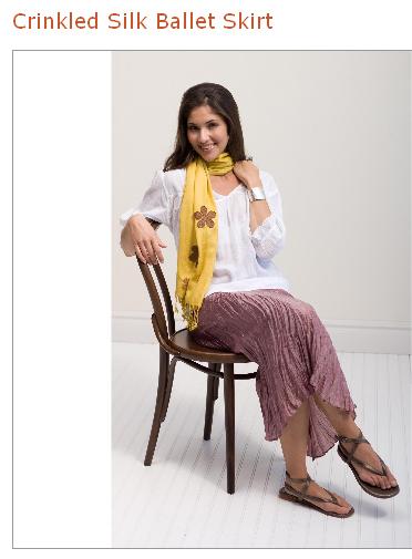 sundance crinkled silk skirt